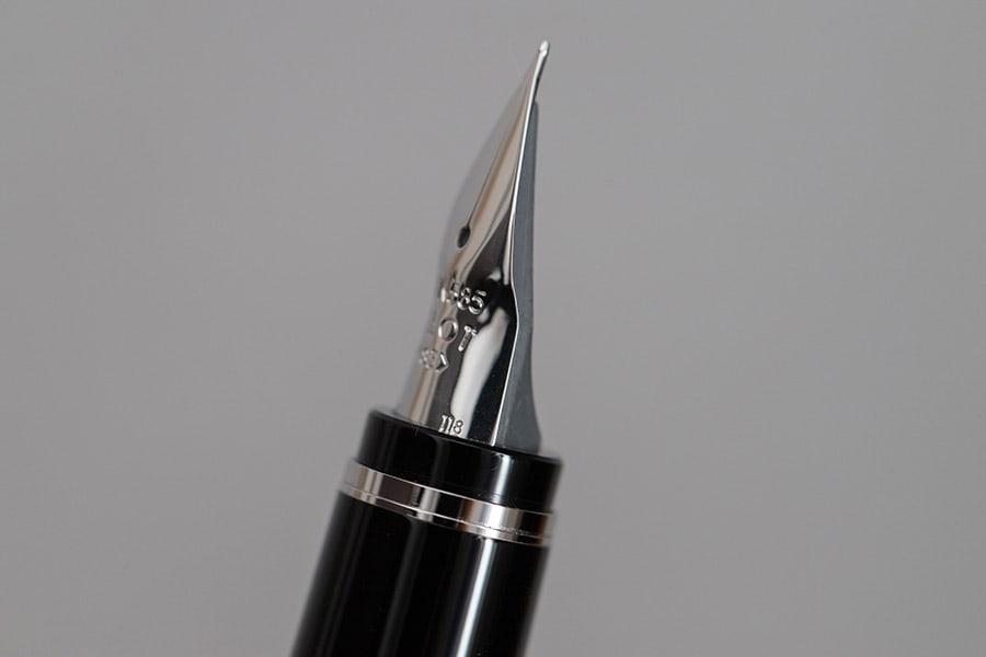 独特な形状のペン先