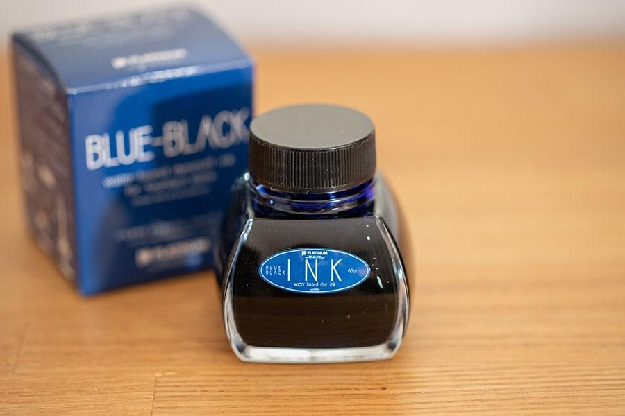インクはプラチナ万年筆の純正ブルーブラックを買いました