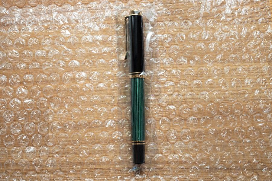 調整後の万年筆 キレイに梱包されてました