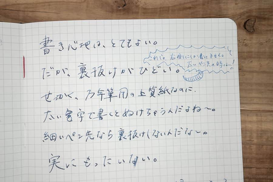 アピカ プレミアムCD 紳士なノートに万年筆で書いた文字